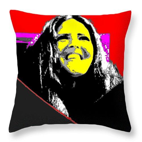 Square Throw Pillow featuring the digital art Ma Jaya Sati Bhagavati 7 by Eikoni Images