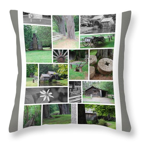 Water Throw Pillow featuring the photograph Mabry Mill by Eric Liller
