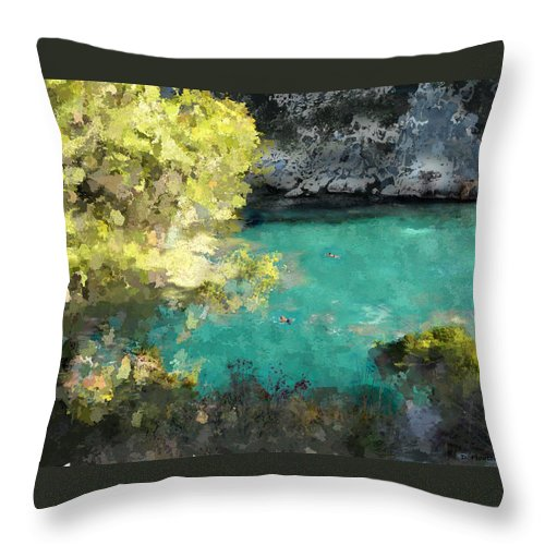 Sea Throw Pillow featuring the photograph Macarella by Dee Flouton