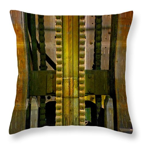 Texture Throw Pillow featuring the photograph Machina by Skip Hunt