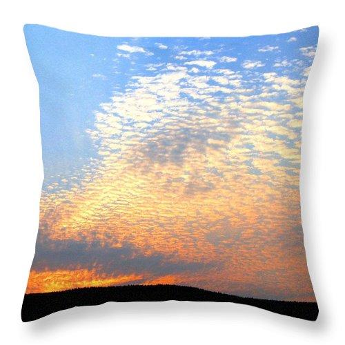 Mackerel Sky Throw Pillow featuring the photograph Mackerel Sky by Will Borden