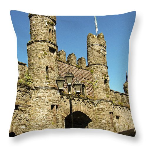 Irish Throw Pillow featuring the photograph Macroom Castle County Cork Ireland by Teresa Mucha