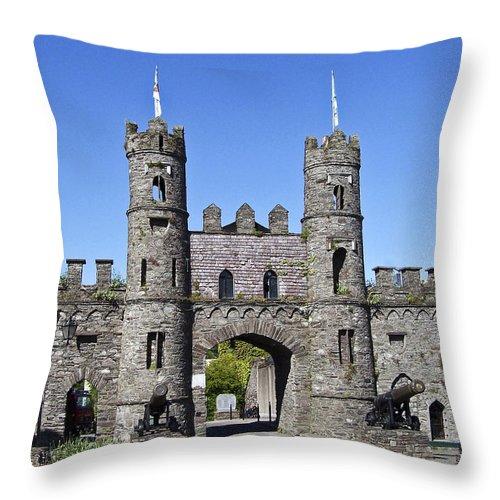 Irish Throw Pillow featuring the photograph Macroom Castle Ireland by Teresa Mucha