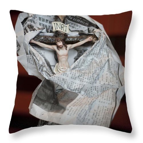 Spain Throw Pillow featuring the photograph Made In China Christ by Rafa Rivas