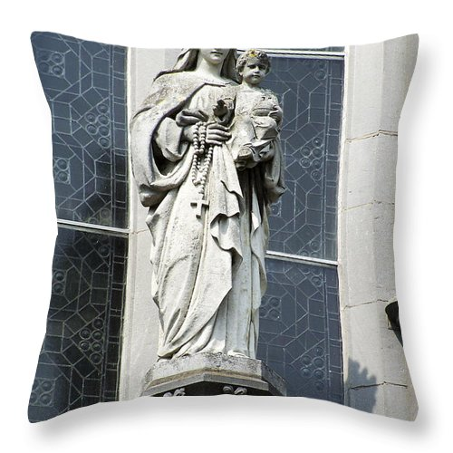 Ireland Throw Pillow featuring the photograph Madonna And Child by Teresa Mucha