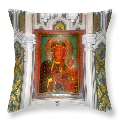 Madonna Throw Pillow featuring the photograph Madonna by Rose Guay