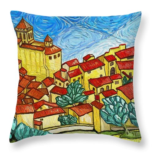 Figurative Throw Pillow featuring the painting Madremanya by Xavier Ferrer
