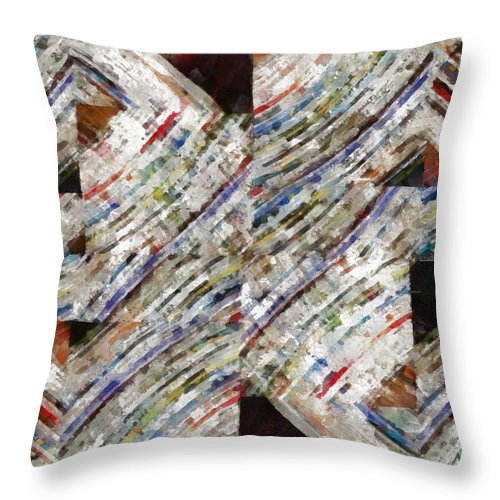 Abstract Throw Pillow featuring the photograph Mag 6 Abstract Painting by Edward Fielding