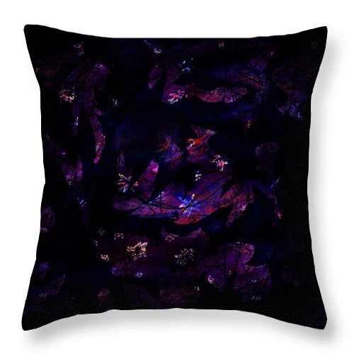 Abstract Throw Pillow featuring the digital art Magic After Midnight by Rachel Christine Nowicki