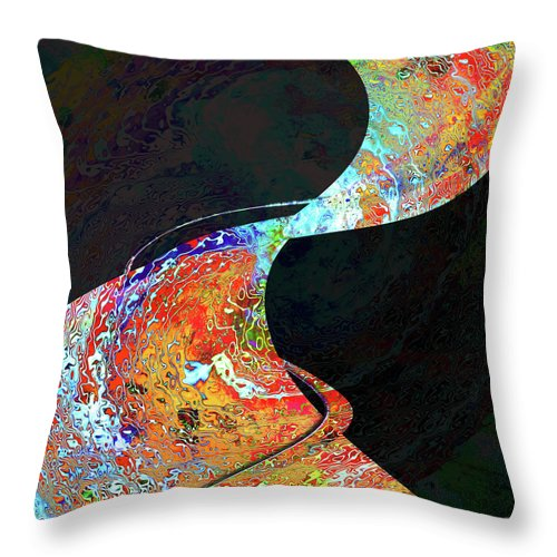 Carpet Throw Pillow featuring the digital art Magic Carpet by Barbara Berney