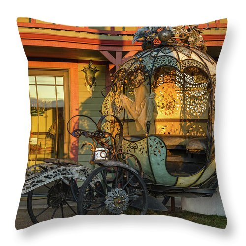Cinderella Throw Pillow featuring the photograph Magic Carriage by Joe Hudspeth