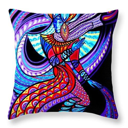Inga Vereshchagina Throw Pillow featuring the painting Magic Dance In The Void by Inga Vereshchagina