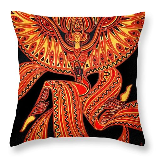 Inga Vereshchagina Throw Pillow featuring the painting Magic Dance by Inga Vereshchagina