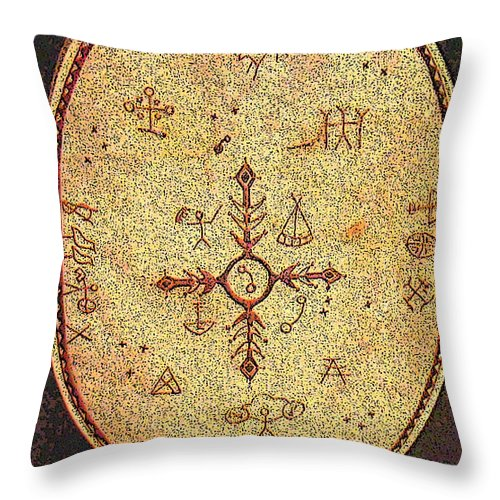 Magic Drum Throw Pillow featuring the photograph Magic Drum by Merja Waters