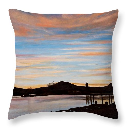 Landscape Throw Pillow featuring the painting Magic by Elizabeth Robinette Tyndall