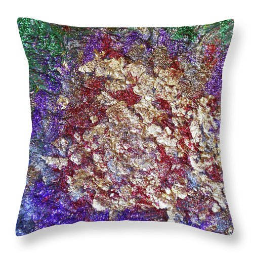 Rose Throw Pillow featuring the painting Magic Rose by Maja Smid