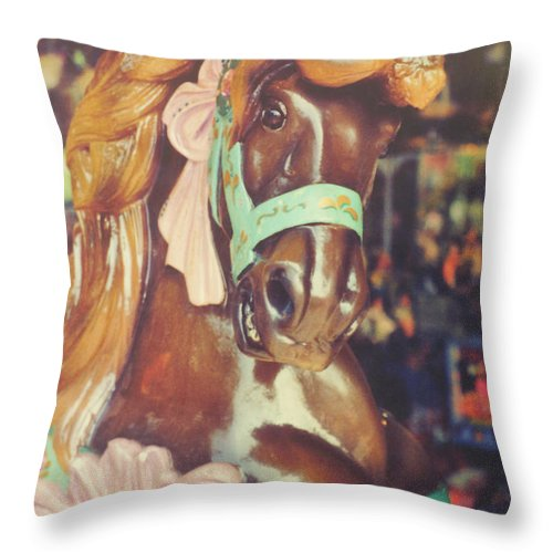 Horse Throw Pillow featuring the photograph Magical by JAMART Photography
