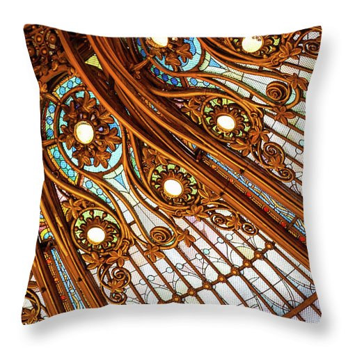Stained Glass Throw Pillow featuring the photograph Magical by Melanie Alexandra Price