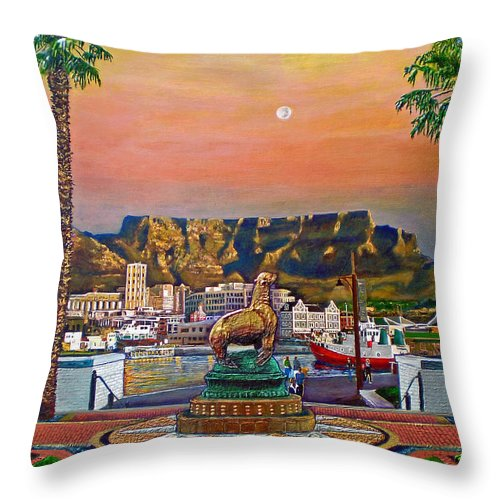 Mountain Throw Pillow featuring the painting Magical Moment by Michael Durst