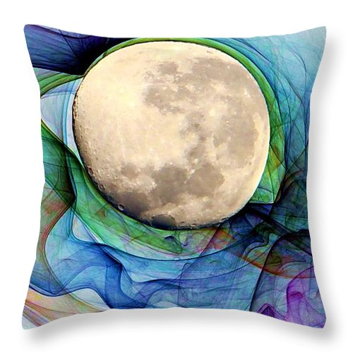 Magnetic Throw Pillow featuring the digital art Magnetic Field by Ron Bissett