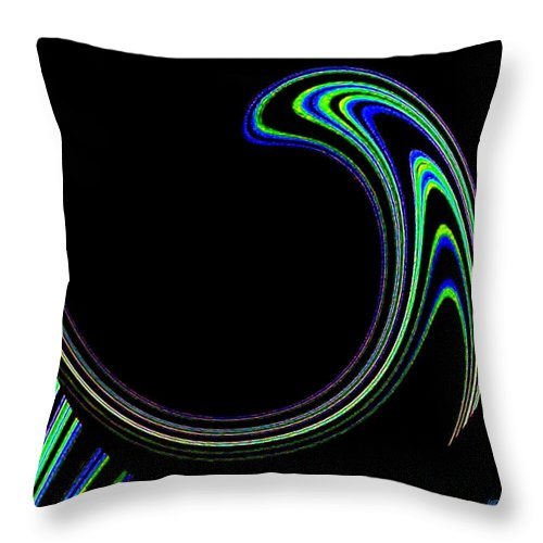 Cosmic Throw Pillow featuring the digital art Magnetic Forces by Will Borden