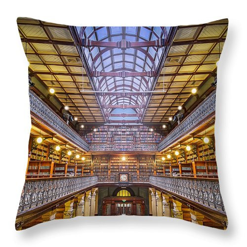 Stunning Architecture Throw Pillow featuring the photograph Magnificent Mortlock by Ray Warren
