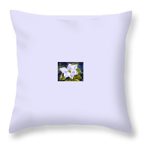 Magnolia Throw Pillow featuring the painting Magnolia 2 Flower Art by Derek Mccrea