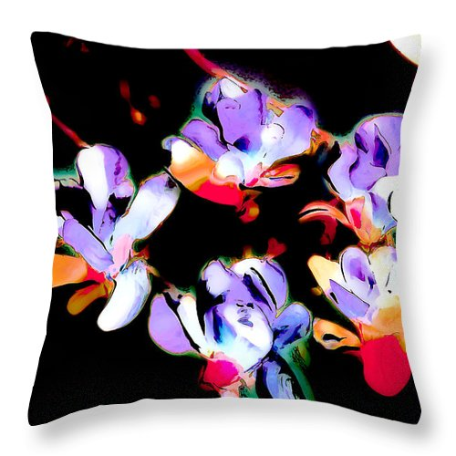 Botanicals Throw Pillow featuring the photograph Magnolia Impressions by Linda Parker