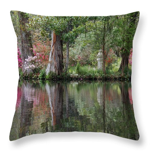 Magnolia Plantation Throw Pillow featuring the photograph Magnolia Plantation Gardens Series IV by Suzanne Gaff