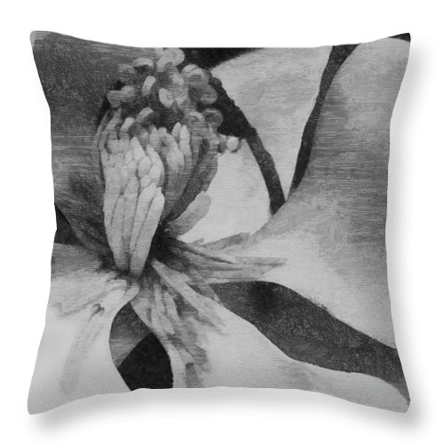 Flower Throw Pillow featuring the photograph Magnolia by Robert Brown