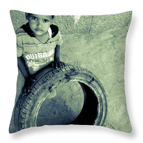 Hurghada Throw Pillow featuring the photograph Magpagulong Kita by Jez C Self