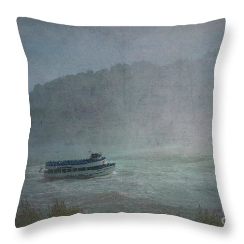 Maid Of The Mist Throw Pillow featuring the photograph Maid Of The Mist by Luther Fine Art