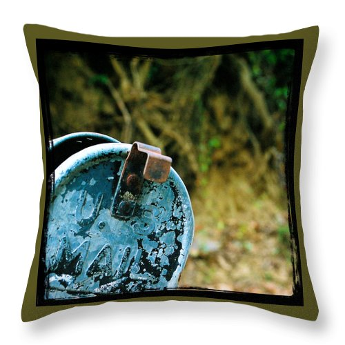 Mailbox Throw Pillow featuring the photograph Mail by Leon Hollins III