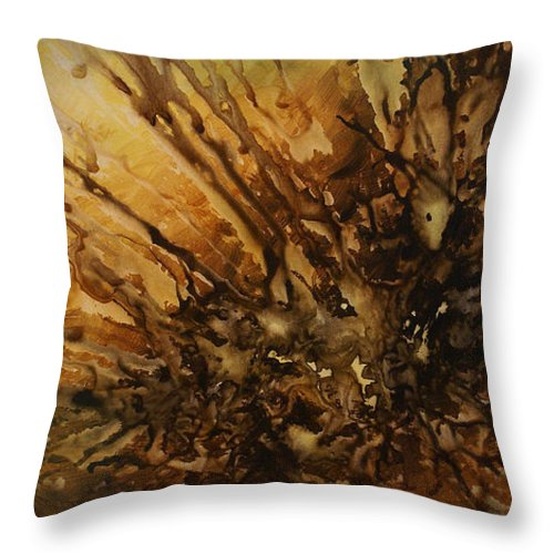 Abstract Art Throw Pillow featuring the painting Maintaining Position by Michael Lang