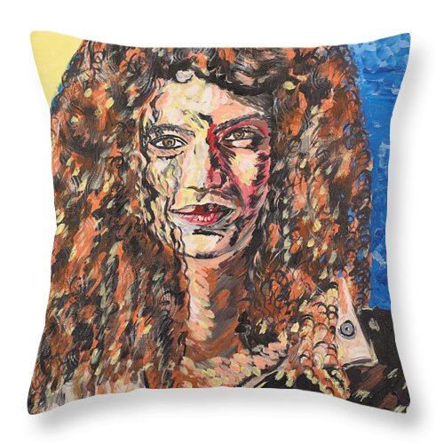 Human Throw Pillow featuring the painting Maja by Valerie Ornstein