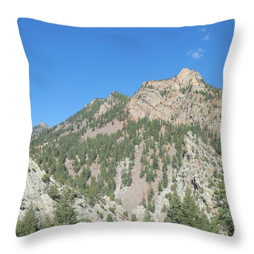 Colorado Throw Pillow featuring the photograph Majestic Eldorado Mountain by Timothy Ruf