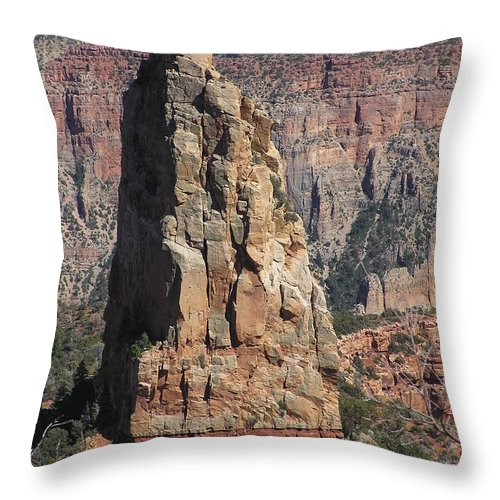 Rock Throw Pillow featuring the photograph Majestic by Louise Magno
