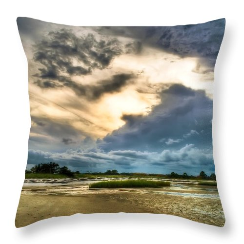 Beach Throw Pillow featuring the photograph Majestic Sky by Rich Leighton