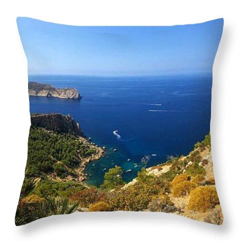 Majorca Throw Pillow featuring the photograph Majorca Spain Panorama by Matthias Hauser