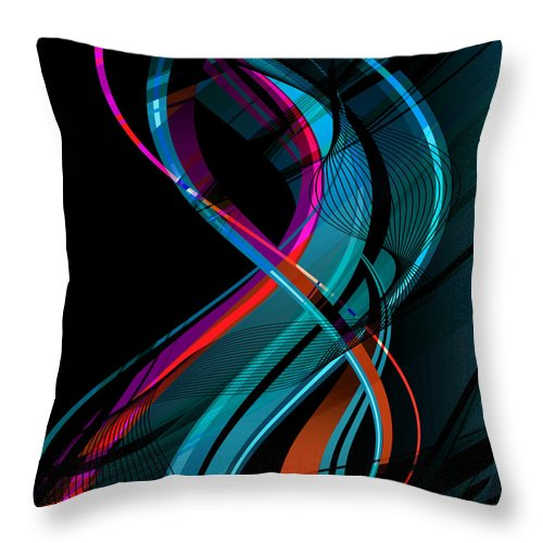 Make Throw Pillow featuring the digital art Making Music 1-2 by Angelina Vick