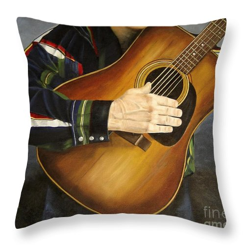 Usa Throw Pillow featuring the painting Making Music by Mary Rogers