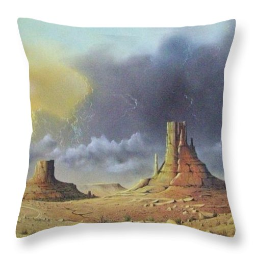 Landscape Throw Pillow featuring the painting Making Up Time by Don Griffiths