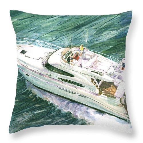 Commissioned Painting Throw Pillow featuring the painting Making Way by P Anthony Visco