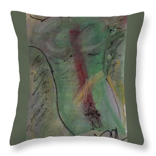 Nude Throw Pillow featuring the painting Male Nude Torso 1 by Wayne Potrafka