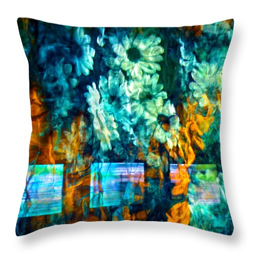 Abstract Throw Pillow featuring the photograph Malerische - Picturesque by Linda McRae