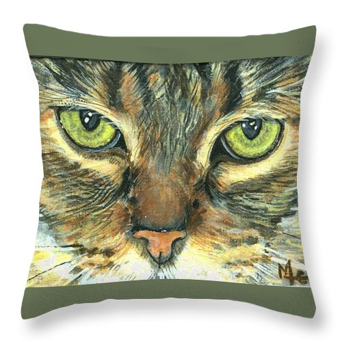 Charity Throw Pillow featuring the painting Malika by Mary-Lee Sanders