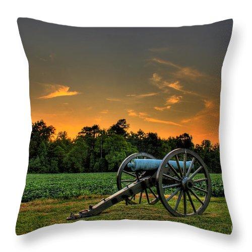 Civil War Throw Pillow featuring the photograph Malvern Hill Battlefield by Tim Wilson