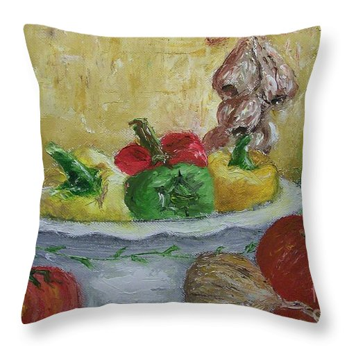 Still Life Throw Pillow featuring the painting Mama by Stephen King
