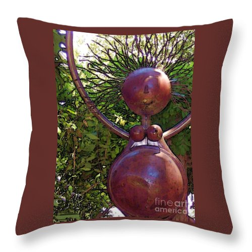 Sculpture Throw Pillow featuring the photograph Mama Tool by Debbi Granruth