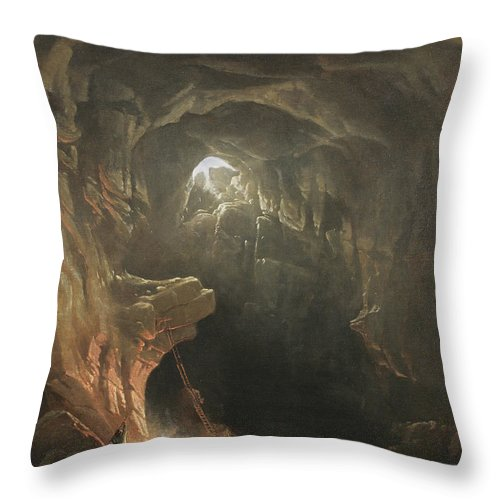 Mammoth Cave Throw Pillow featuring the painting Mammoth Cave by Francis